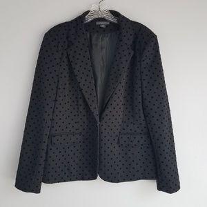 covington XL black polkadot blazer